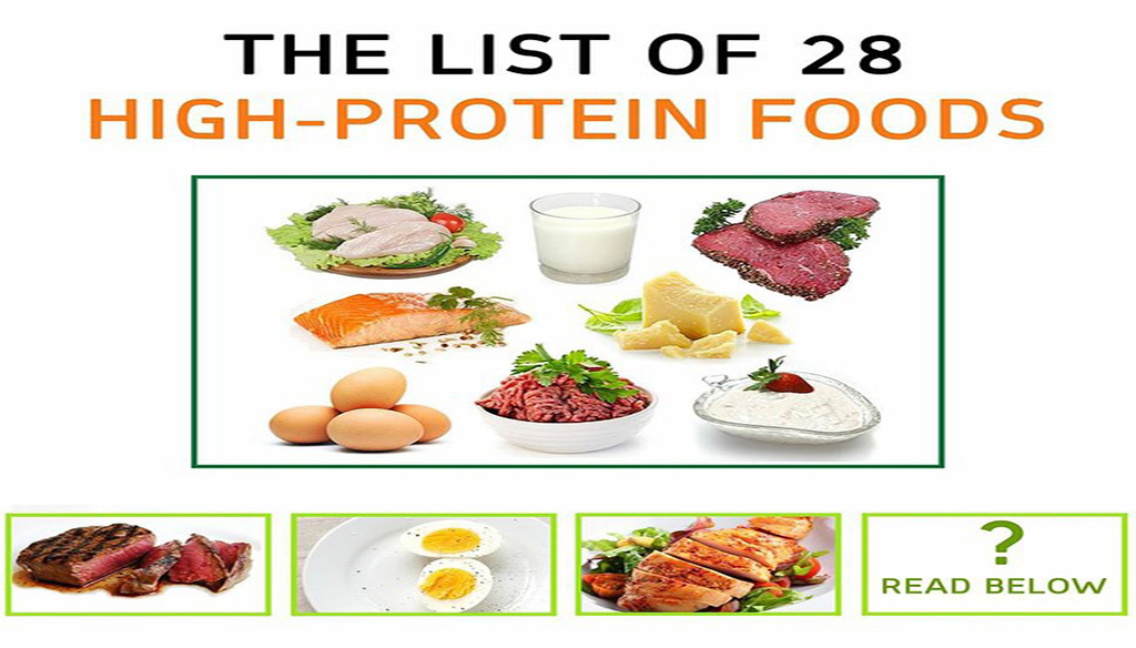 The List Of 28 High-Protein Foods