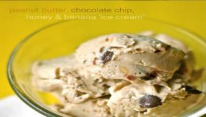 RECIPE: PEANUT BUTTER, CHOCOLATE CHIP, HONEY & BANANA ICE CREAM