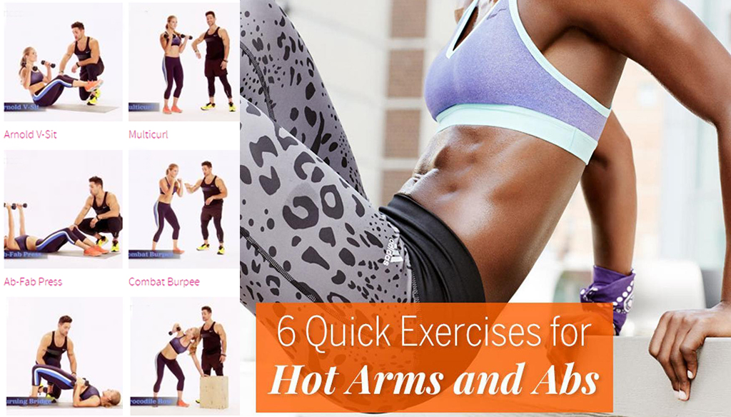 6 Quick Exercises for Hot Arms and Abs