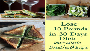 Lose 10 Pounds in 30 Days Diet: Low-Calorie Breakfast-Recipe