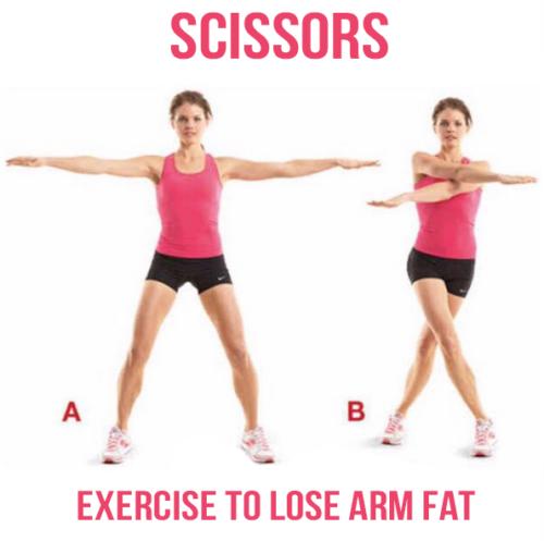 Scissors - Exercise to lose arm fat