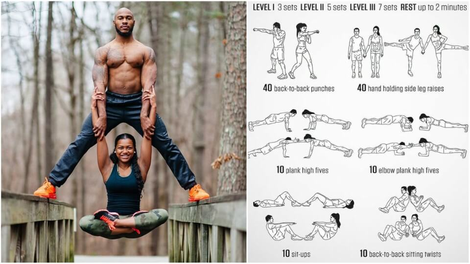 Building The Perfect Body Together | Partner Workouts