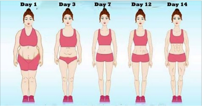 14 Days Challenge…Slim Body, Flat Tummy And Small Waist