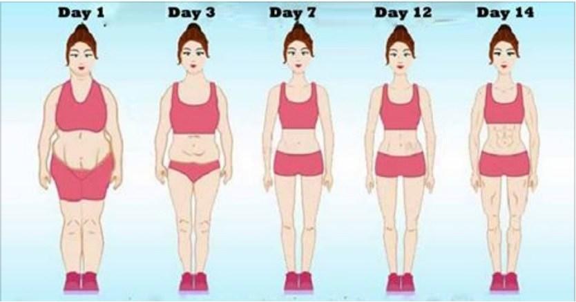 14 Days Challenge…Slim Body, Flat Tummy And Small Waist